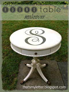 diy round side table refinished