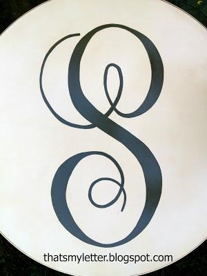 large handpainted monogram