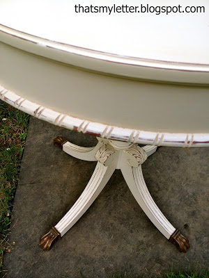 pedestal style side table makeover