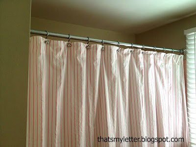 diy shower curtain with grommets