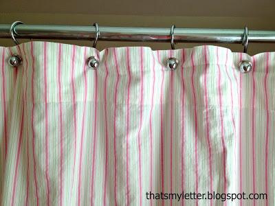 diy shower curtain from a sheet