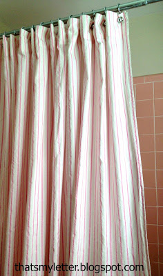 shower curtain from flat sheet