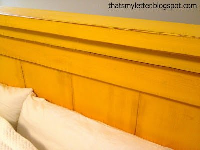 diy painted and stained farmhouse headboard