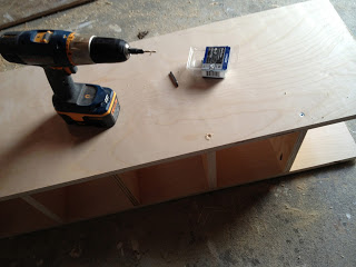 predrill countersink holes