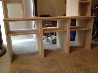 diy bench with cubbies