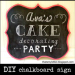 """C"" is for Chalkboard Sign"