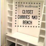 DIY Mudroom Closet Cubbies & Bench