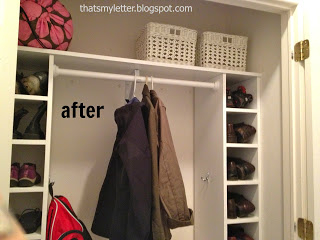 diy mudroom closet after shoe cubbies