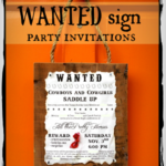 """W"" is for WANTED party invitations"