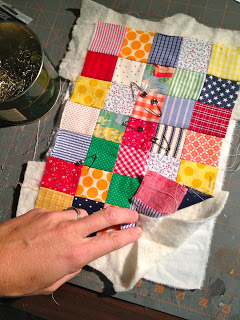 quilt sandwich pieces