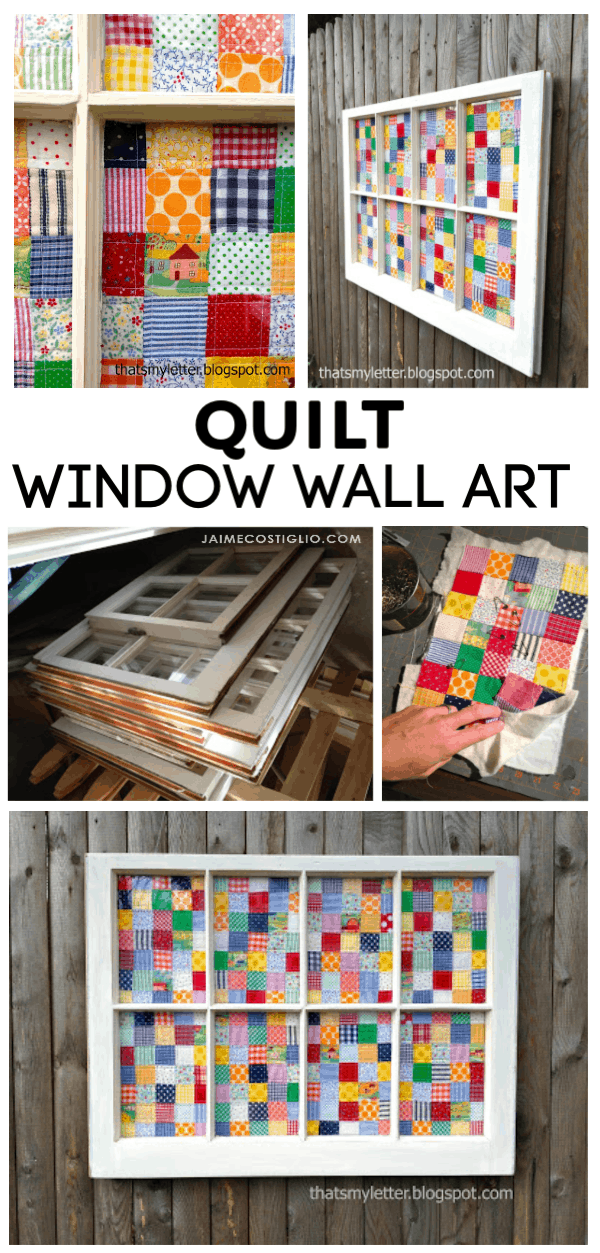 diy quilt window wall art