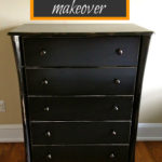 Dresser Makeover with Enamel Paint