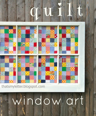 quilt window wall art