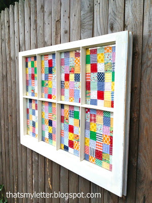 window as a frame for quilt