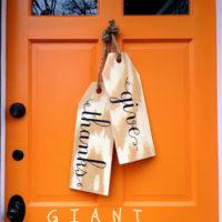 DIY Giant Wood Tags