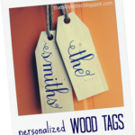 Personalized Giant Wood Tags