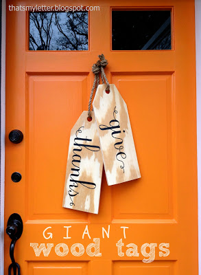 diy giant wood tags front door decor