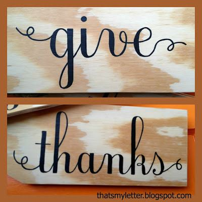 give thanks detailed lettering