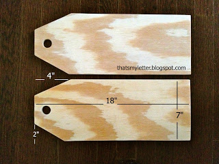large wood tags with dimensions