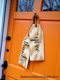 diy large wood tags front door decor