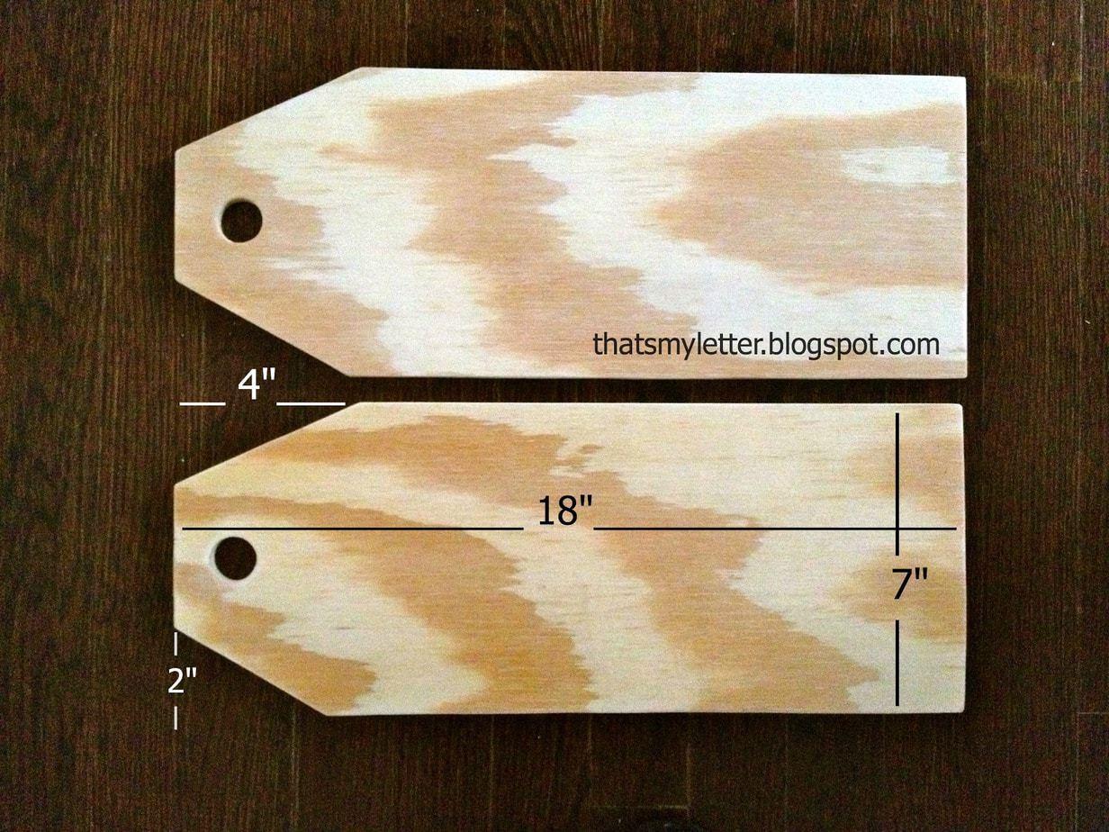 Diy Giant Wood Tags Jaime Costiglio