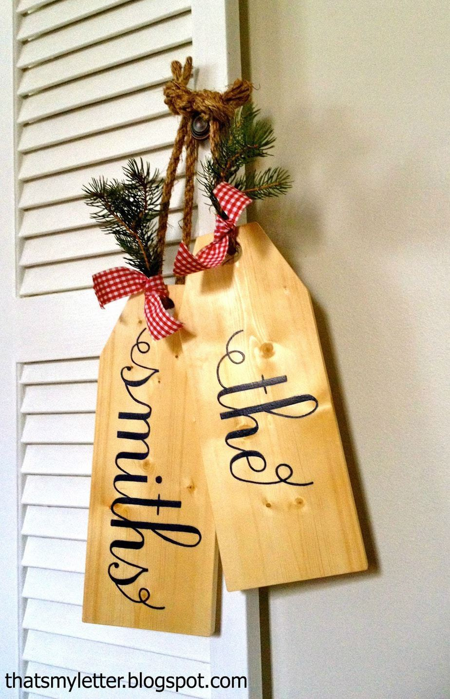 Personalized Giant Wood Tags - Jaime Costiglio