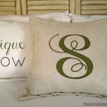 """A"" is for Applique Pillow"