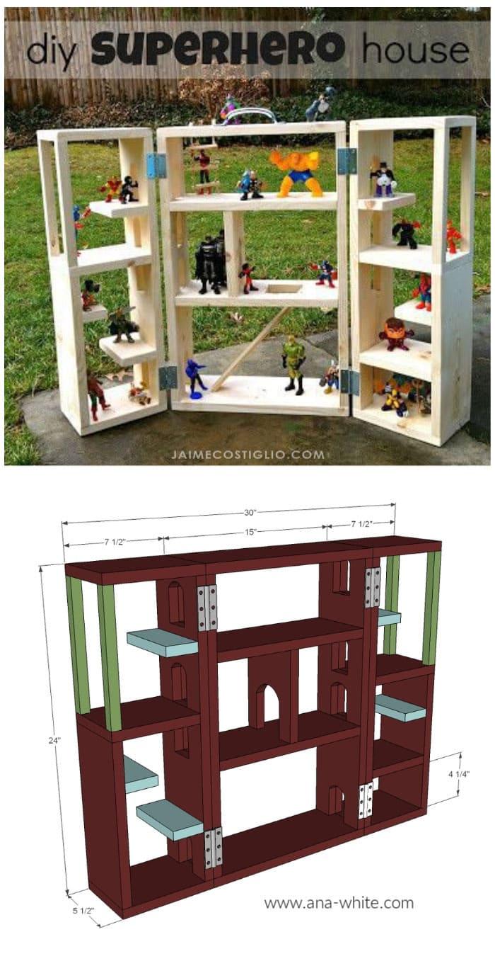 diy superhouse playhouse free plans