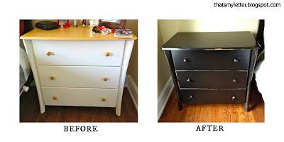 before and after dresser makeover