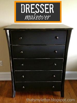 painted dresser makeover enamel