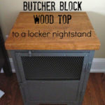 How to Add a Butcher Block Top to a Locker Nightstand