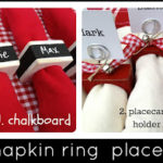 DIY Napkin Ring Placecards