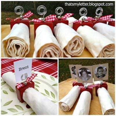 diy christmas wood napkin ring placecards