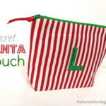 """S"" is for Secret Santa pouch"