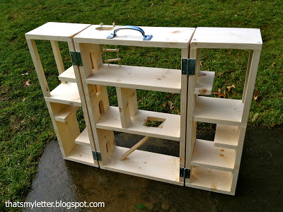 wood playhouse structure for superheros