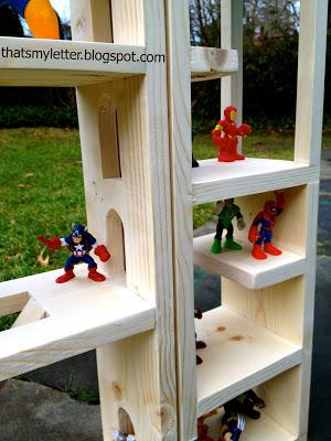 diy wood superhero lair