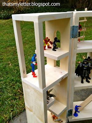 superheros in playhouse