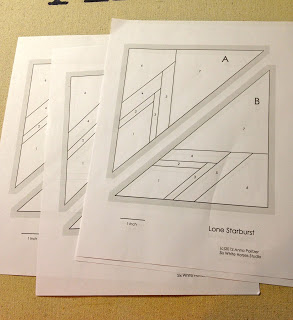 lone starburst paper piecing pattern
