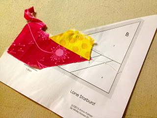 how to sew a lone starburst pattern