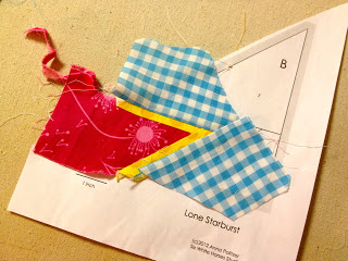 how to paper piece a lone starburst pattern