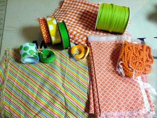 fabric and ribbon supplies