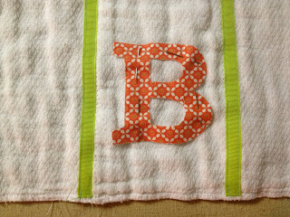 applique pinned in position