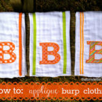 """A"" is for Applique Burp Cloths"