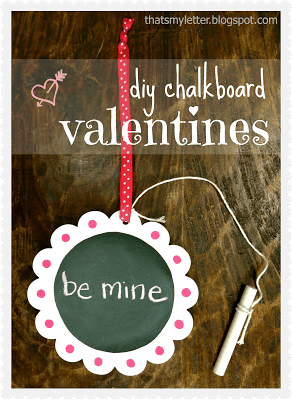 DIY chalkboard valentines.  How to make single chalkboard valentines.