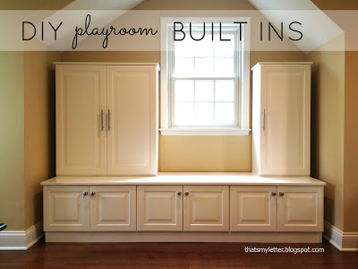 diy playroom built ins