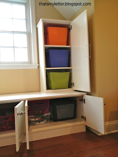 Ikea cabinet built ins for toy storage