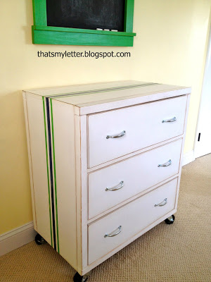 diy rolling dresser with 3 drawers