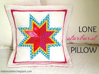 diy lone starburst pillow