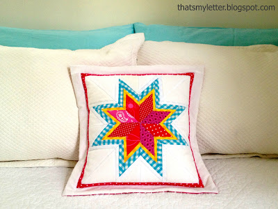 lone starburst quilted pillow