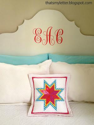 diy lone starburst quilted pillow